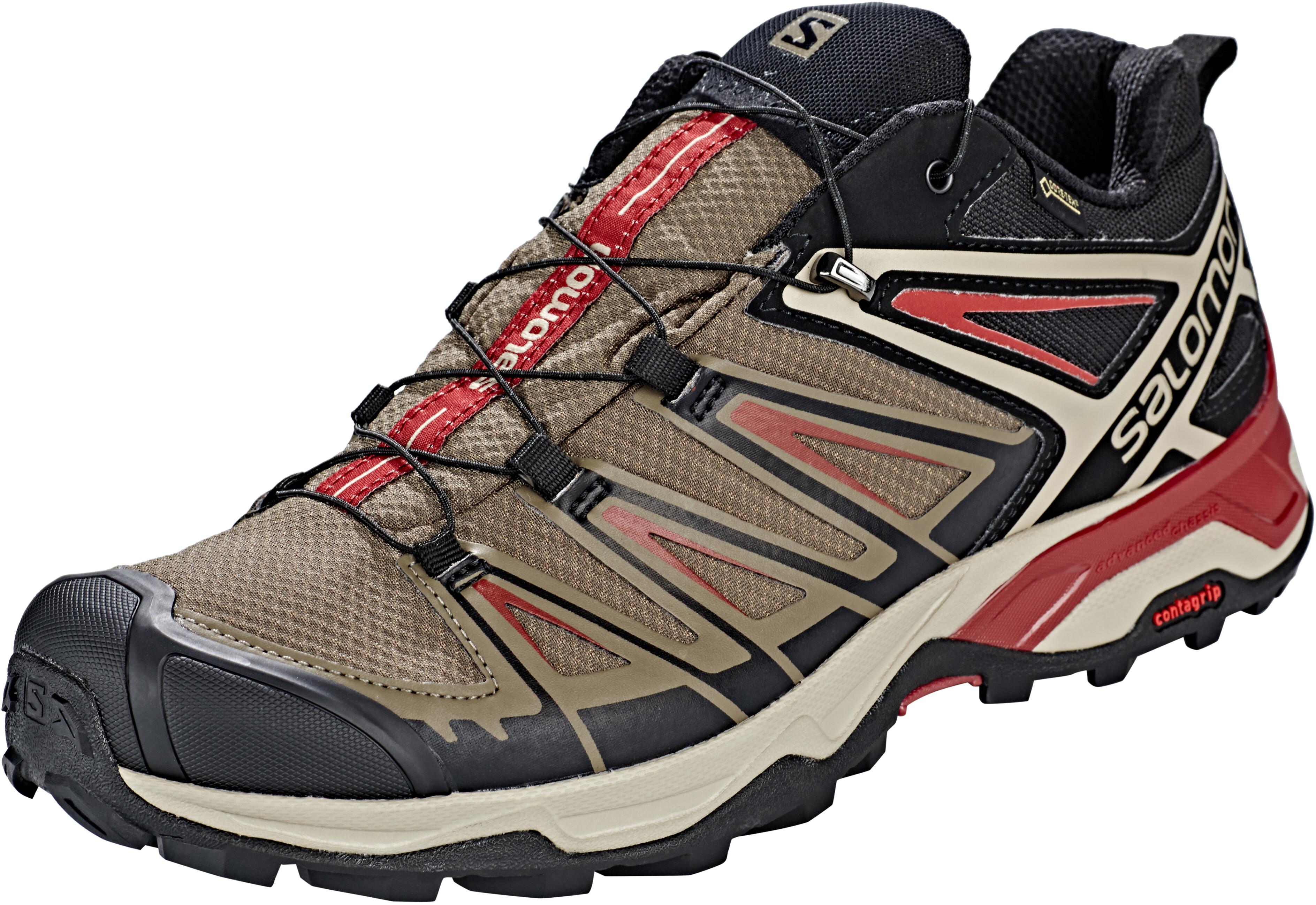 premium selection c63cf 20564 Salomon X Ultra 3 GTX Shoes Men bungee cord/vintage kaki/red dahlia